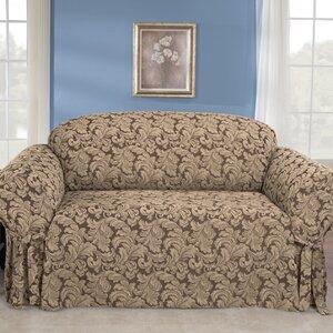 Scroll Classic Box Cushion Sofa Slipcover