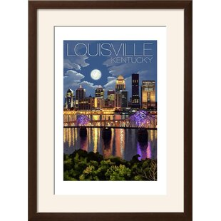 Louisville wayfair louisville kentucky skyline at night framed vintage advertisement solutioingenieria Choice Image