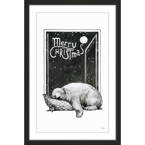 'Bear in Slumber II' Framed Painting Print
