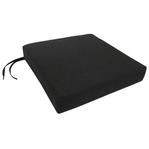 Knife Edge Outdoor Sunbrella Dining Chair Cushion with Ties and Zippered