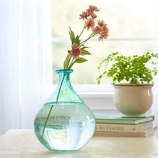 Highland Dunes Belton Recycled Glass Table Vase Birch Lane