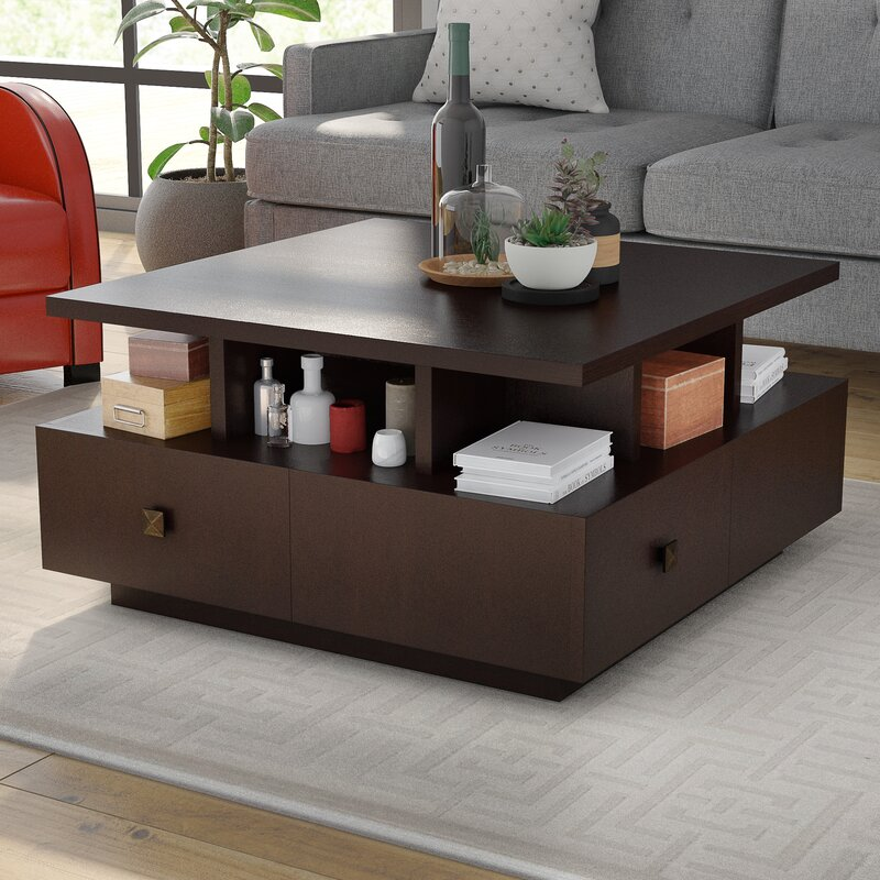 Superieur Square Coffee Table With Storage