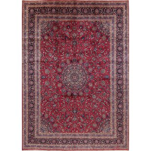 Arcade Hand Knotted Traditional Fl Kashan Persian Style Area Rug 12 7 X 9 6