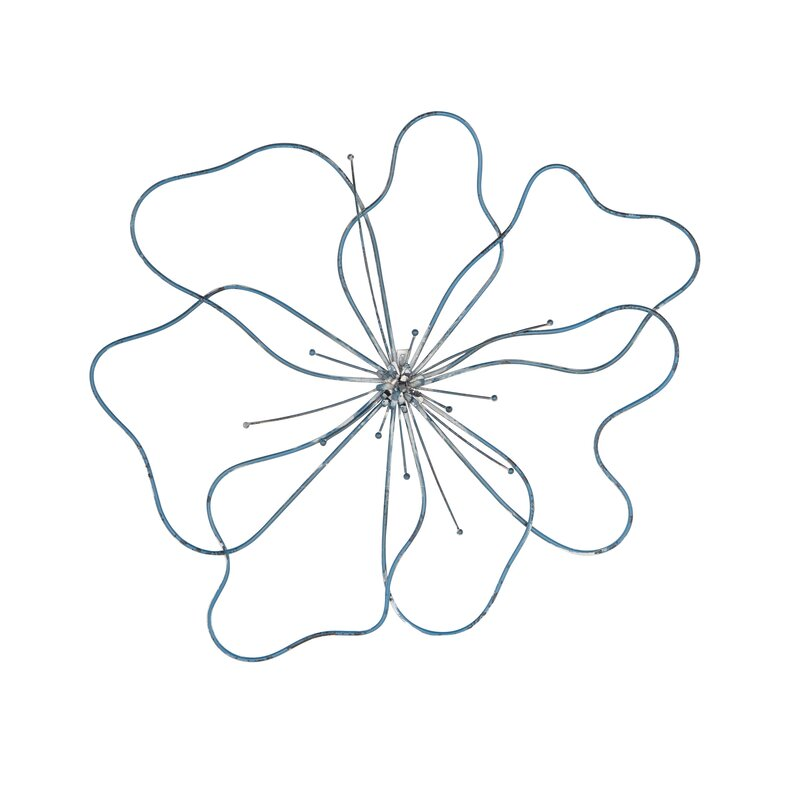 Ebern Designs Eclectic Floral Metal Wall Decor | Wayfair
