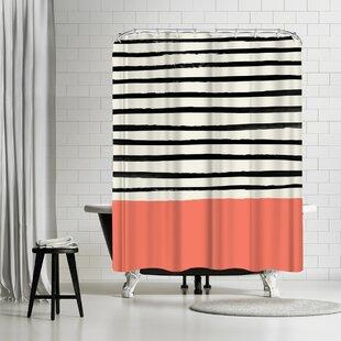 Leah Flores Coral Shower Curtain