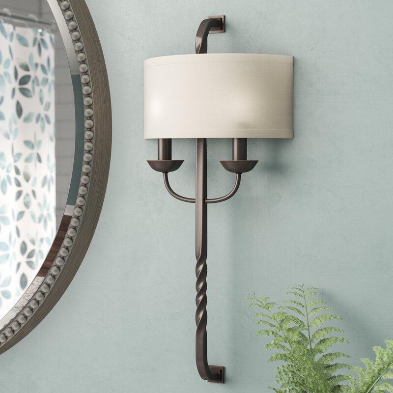 Darby Home Co Amalthea Light Wall Sconce Reviews Wayfair - 2 light bathroom sconce