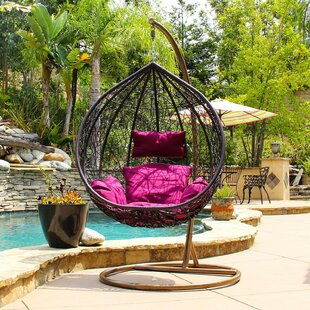 012d6c0629a Hobbs Outdoor Wicker Plastic Tear Porch Swing with Stand