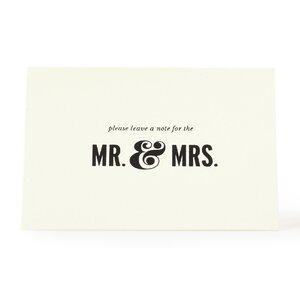 For the Mr. & Mrs. Guest Book