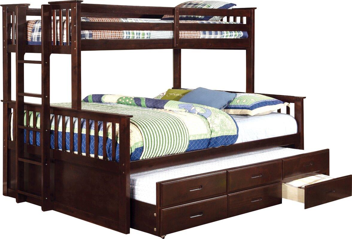 viv rae sandra twin over queen bunk bed reviews wayfair. Black Bedroom Furniture Sets. Home Design Ideas