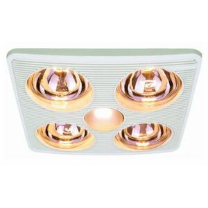 90 CFM Bathroom Fan with Heater and Light