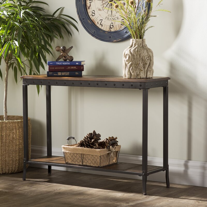 Superbe Lucia 2 Tier Rectangle Console Table