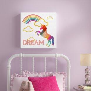 c7c28268647e4 Kids Unicorn Wall Art | Wayfair