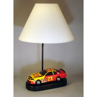 Disney cars lamp wayfair race car 20 table lamp mozeypictures Image collections