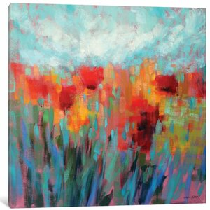 Shimmering Painting on Wrapped Canvas