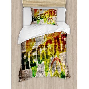 World map bedding wayfair rasta world map on plaques with reggae lettering and peace symbol duvet set gumiabroncs Gallery