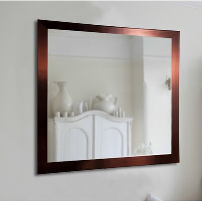 Brayden Studio Industrial Bronze Wall Mirror Size: 23.5 H x 19.5 W x 0.75 D
