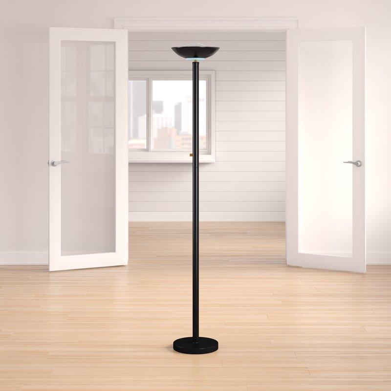 Latitude Run Jozwiak 71 Torchiere Floor Lamp Reviews Wayfair