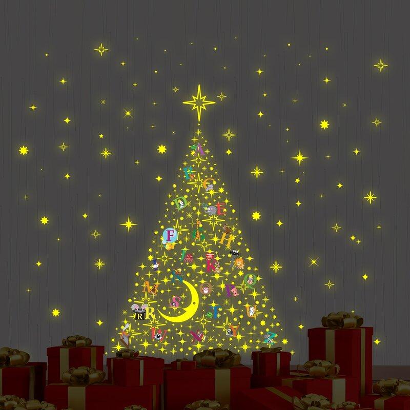 Learn The ABC Glow In Dark Christmas Tree Stars Wall Decal