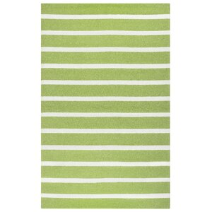 Lyndon Hand-Tufted Lime Indoor/Outdoor Area Rug