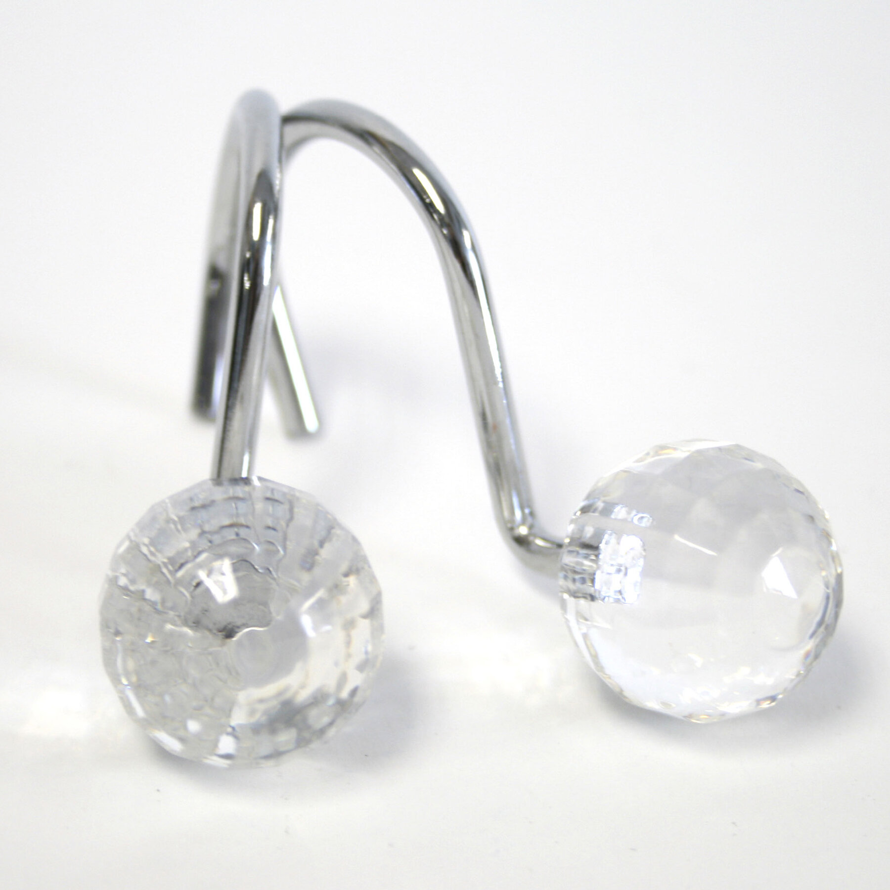 Premium Crystal Ball Shower Curtain Hooks