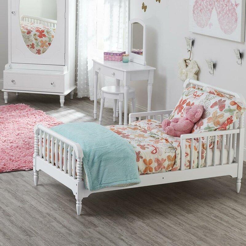 little seeds rowan valley linden toddler slat bed reviews wayfair. Black Bedroom Furniture Sets. Home Design Ideas