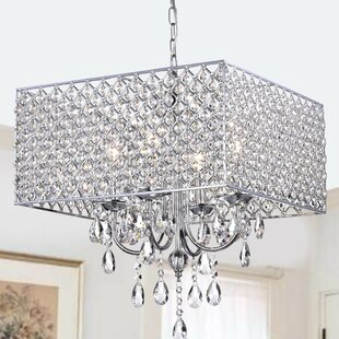 Crystal chandeliers youll love wayfair holford 4 light crystal chandelier aloadofball Image collections