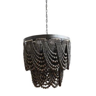 Black chandeliers youll love wayfair hatfield metalwood 3 light novelty chandelier aloadofball Images