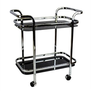 Garica Contemporary 2 Tiered Bar Cart Fresh
