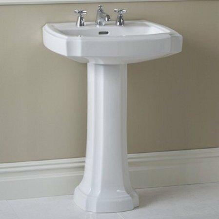 toto guinevere vitreous china 27 pedestal bathroom sink with rh wayfair com