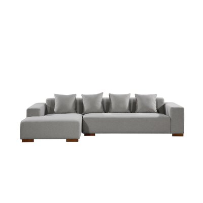 Brayden Studio Bracero Sectional Orientation: Left Hand Facing, Upholstery: Gray