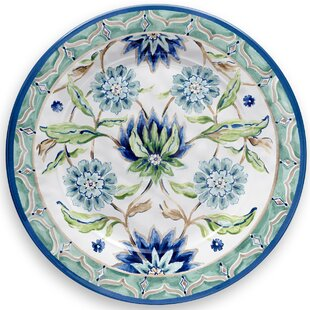 Sikandra Floral Heavy Mold Melamine Dinner Plate  sc 1 st  Wayfair : blue and white paper plates - pezcame.com