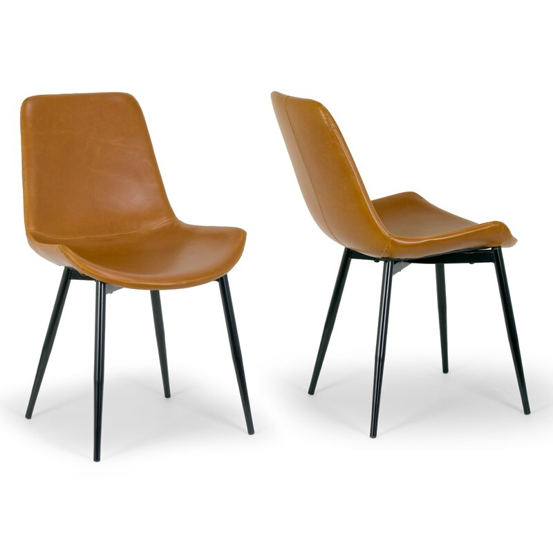 Alary+Faux+Leather+Modern+Side+Chair