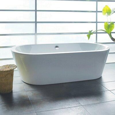 Freestanding tubs for Woodbridge 54 modern bathroom freestanding bathtub
