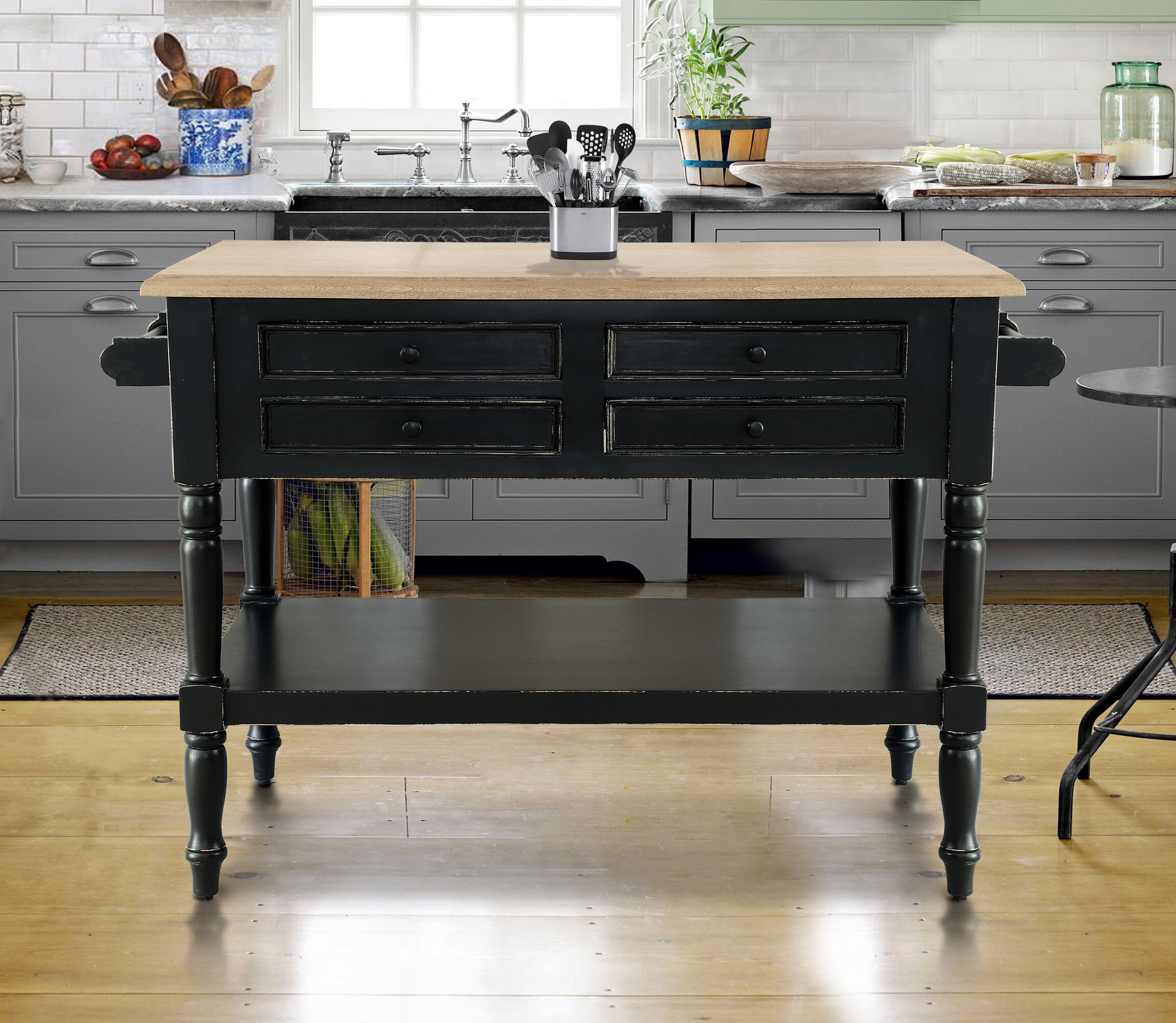 740484079c4 Darby Home Co Brookstonval Kitchen Island Solid Wood
