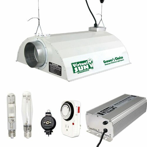 400 watt hpsmh grow light hood reflector digital ballast kit