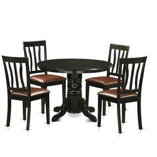 Langwater 5 Piece Pedestal Dining Set