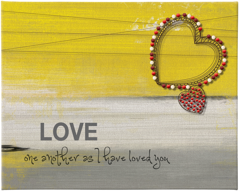 Winston Porter Traditional Love Rectangle Wall Décor | Wayfair