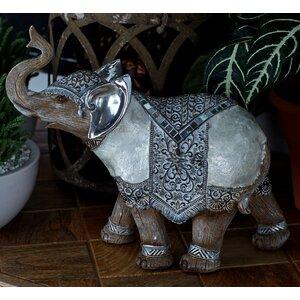 Polystone Elephant Figurine