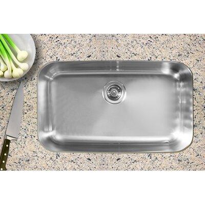 """Undermount Kitchen Single Sink ukinox 30.5"""" x 18.5"""" single bowl undermount kitchen sink   wayfair"""