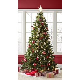 Green Spruce Artificial Christmas Tree with Clear White Lights 6bef480e5