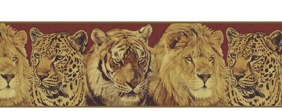 "Lodge Décor Portraits 15' x 9"" Wildlife Border Wallpaper"