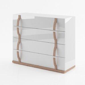 Alice Gloss 4 Drawer Dresser by Brayden Studio