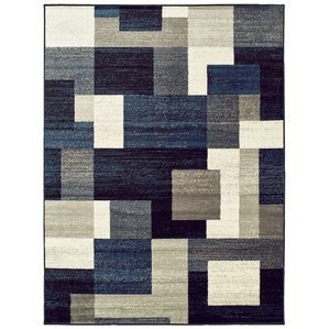Taira Block Blue/Gray Area Rug