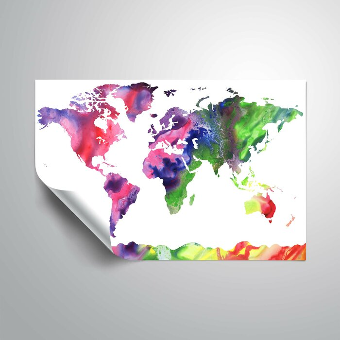 Wrought studio gillham bright world map wall decal reviews gillham bright world map wall decal gumiabroncs Gallery