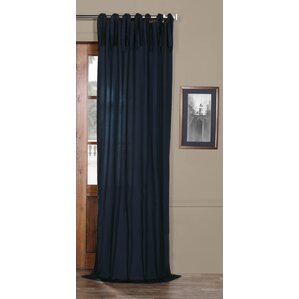 Margery Solid Tab Top Single Curtain Panel