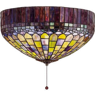 Dale tiffany ceiling lights wayfair 3 light tiffany candice flush mount aloadofball Choice Image