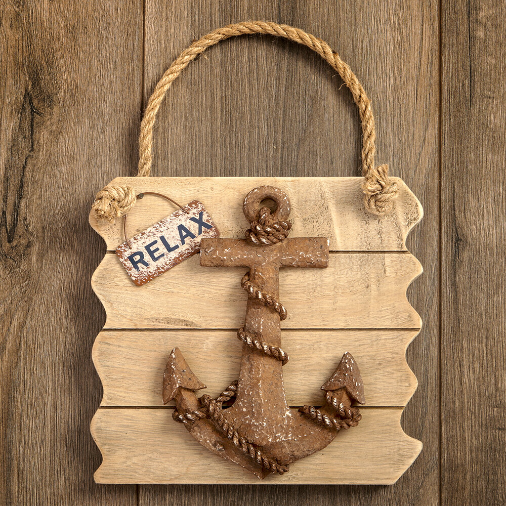 Attractive Wooden Anchor Wall Decor Sketch - Wall Art Collections ...