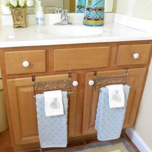 Evelots Over Cabinet Towel Bar Holders 9 Stainless Steel Leaf Design Set Of 2
