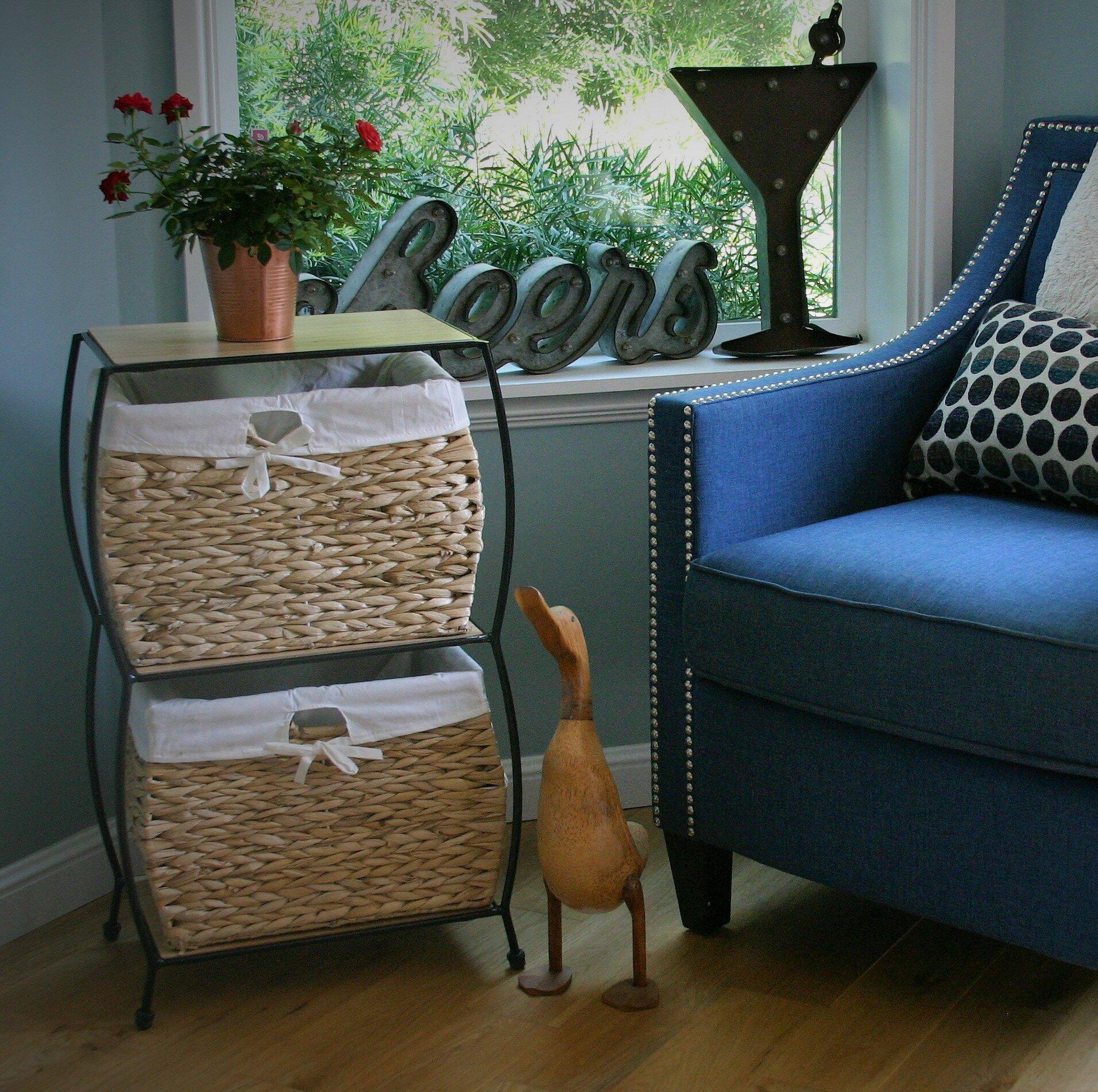 Pangaea Seagrass Basket Storage 2 Drawer Vertical Filing Cabinet U0026 Reviews  | Wayfair
