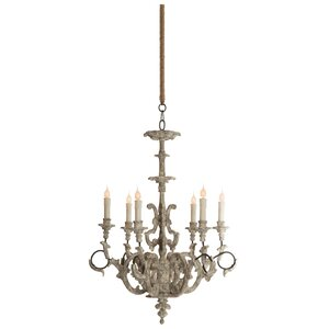 Ebby High French 6-Light Candle-Style Chandelier